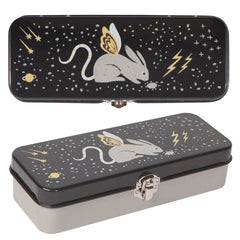 Pencil Box by Danica Studios - Beasties Cosmic Galaxy Rabbit with Wings - Freshie & Zero