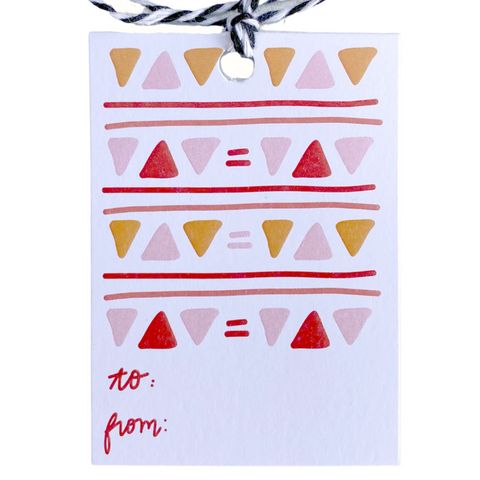 Holiday Gift Tags - Geometric Triangles