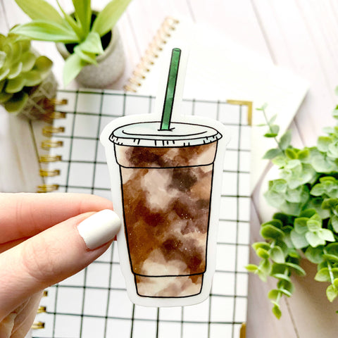 Iced Coffee Sticker