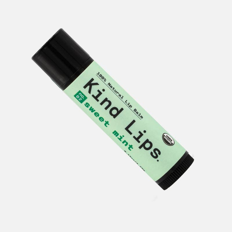 Kind Lips Organic Lip Balm - Sweet Mint - Freshie & Zero Studio Shop