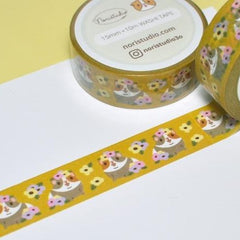 washi tape: Guinea pigs and Flowers - Freshie & Zero