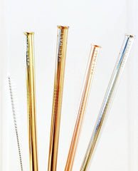 Set of 4 Reusable Straight Straws