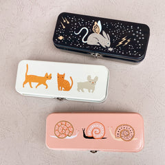 Pencil Box by Danica Studios - Pink Snails - Freshie & Zero