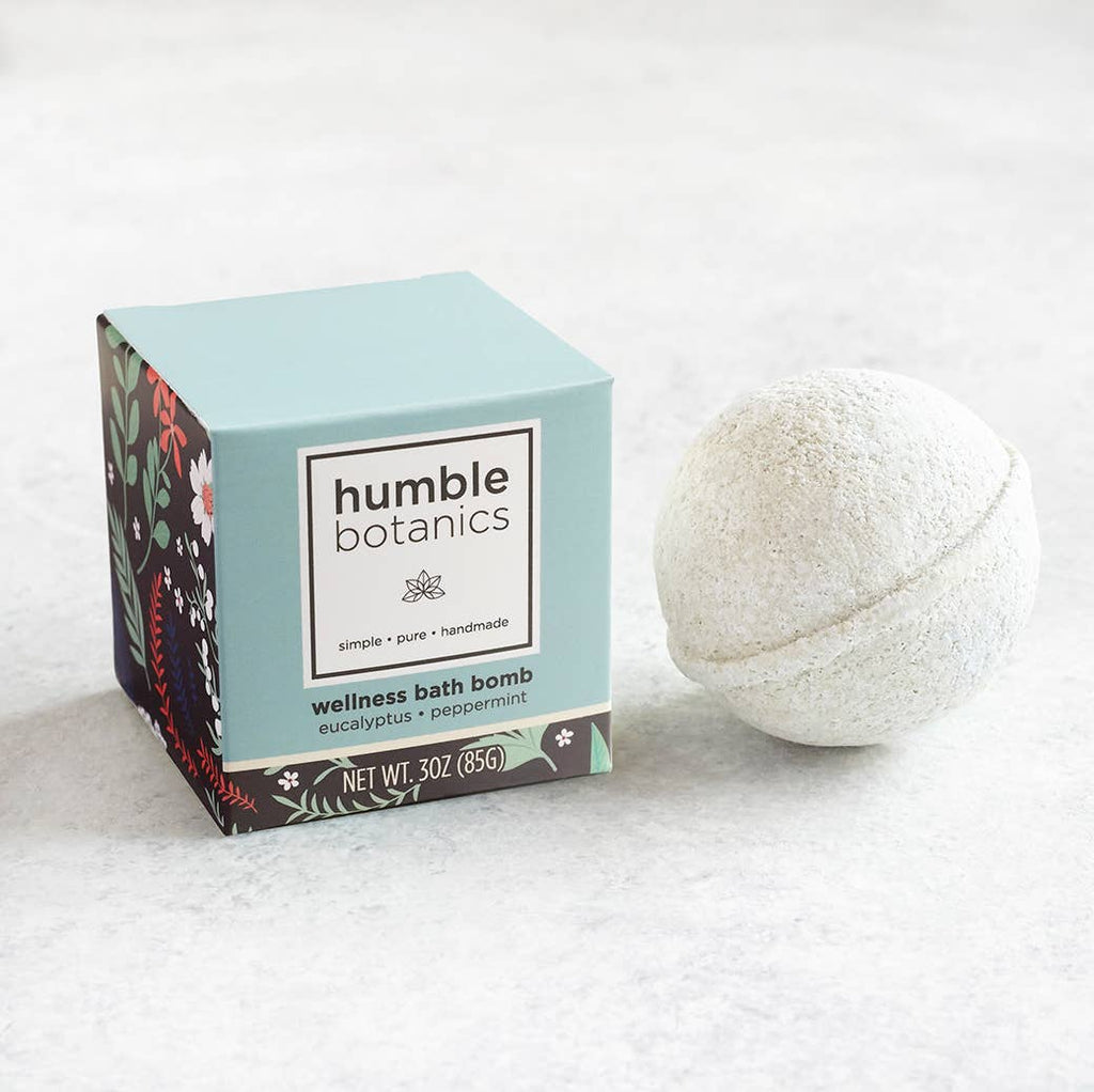 Essential Oils Bath Bomb - Organic Peppermint & Eucalyptus - Freshie & Zero Studio Shop