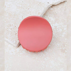 Minimalist Circle Hair Clip - Brick Red - Freshie & Zero Studio Shop