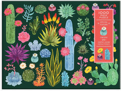Desert Flora Succulents and Flowers Puzzle 1000 Pieces - Freshie & Zero Studio Shop
