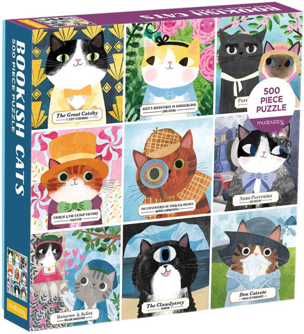 Bookish Cats Puzzle 500 Pieces