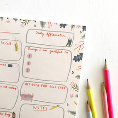Balanced Day Planner Notepad - Freshie & Zero Studio Shop