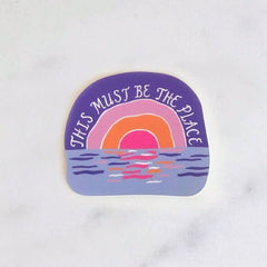 This Must Be the Place Sticker by Idlewild - Freshie & Zero | artisan handmade hammered jewelry | handmade in Nashville, TN