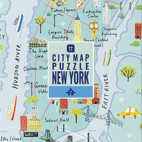 City Map Puzzle New York City 250 pieces
