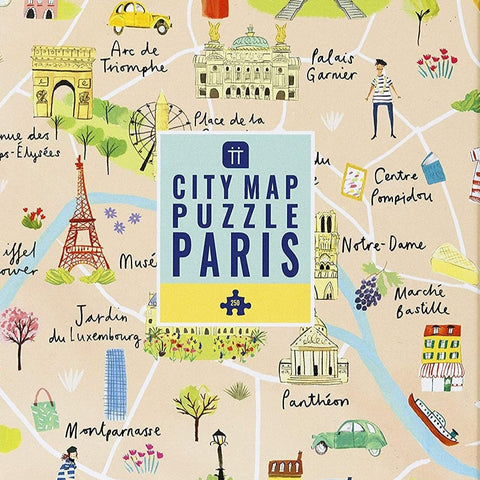 City Map Puzzle Paris 250 pieces