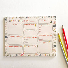 Balanced Day Planner Notepad