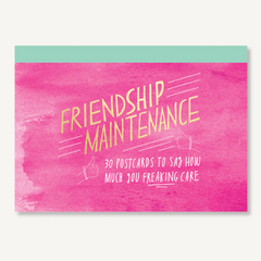 Friendship Maintenance Postcards set of 30