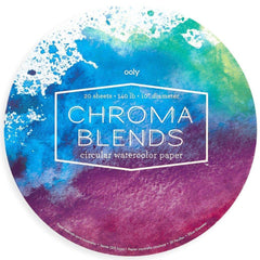 Chroma Blends Circle Watercolor Paper Pad by Ooly