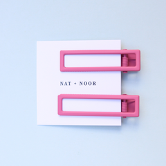 Lu Lu Hair Clips In Bright Pink - Freshie & Zero Studio Shop
