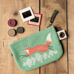Small Zipper Pouch - Hill & Dale Fox - Freshie & Zero