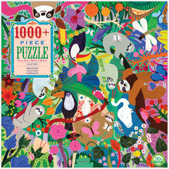 Sloths in the Jungle puzzle 1000 pieces - Freshie & Zero | artisan handmade hammered jewelry | handmade in Nashville, TN