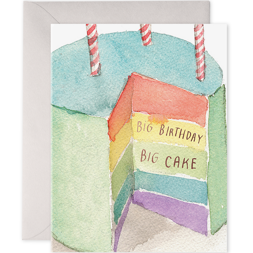E. Frances Cards - Big Birthday Big Cake - Freshie & Zero