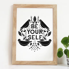 Be Yourself Art Print by Gingiber - 8x10 - Freshie & Zero Studio Shop