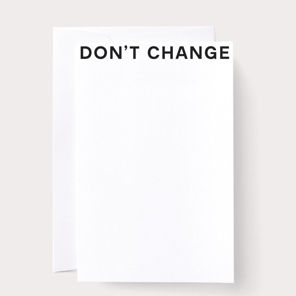 Don't Change Card by Noat Paper - Freshie & Zero Studio Shop