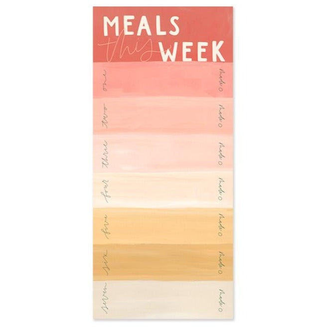 Meals This Week Notepad Pink Rainbow Stripe Planner 1canoe2