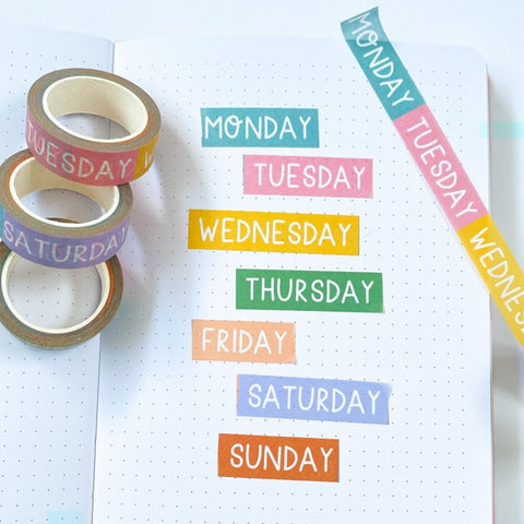 Washi Tape: Days of the Week
