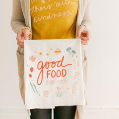 Flour Sack Towel - Good Food Good Mood - Freshie & Zero Studio Shop