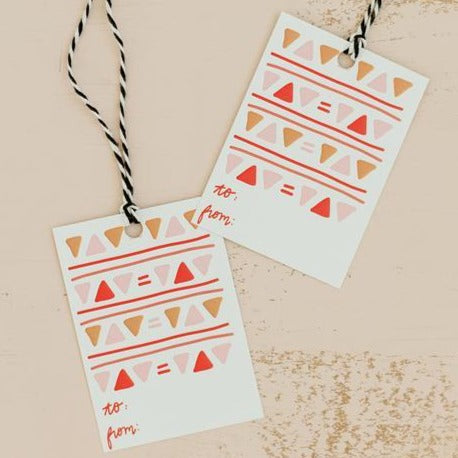 Gift Tags - Geometric Triangles - Freshie & Zero Studio Shop