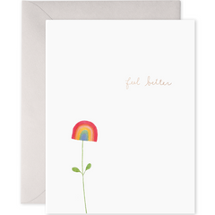 E. Frances Cards - Feel Better Rainbow Flower - Freshie & Zero
