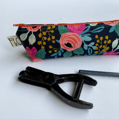 Pencil Pouch in Classic Rifle Paper Fabric - Freshie & Zero Studio Shop