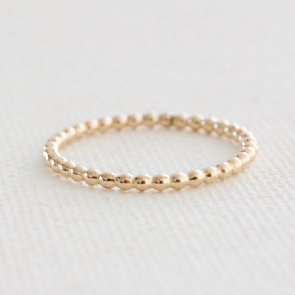 Gold Filled Beaded Stacking Ring