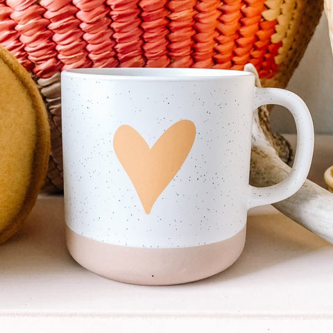 Speckled Clay Heart Mug