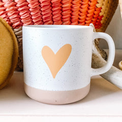 Speckled Clay Heart Mug - Freshie & Zero
