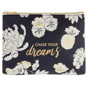 Floral Chase Your Dreams Cosmetic Pouch