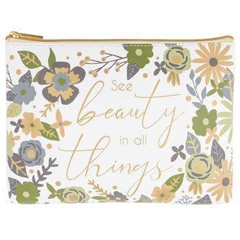 See Beauty in All Things Cosmetic Pouch