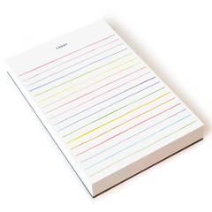 Chunky Rainbow Stripe Notepad by E. Frances Paper - Freshie & Zero Studio Shop