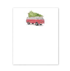 Chunky Notepad - Holiday Tree-Topped VW Bus - Freshie & Zero Studio Shop