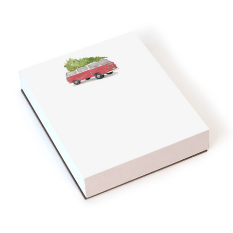 Chunky Notepad - Holiday Tree-Topped VW Bus