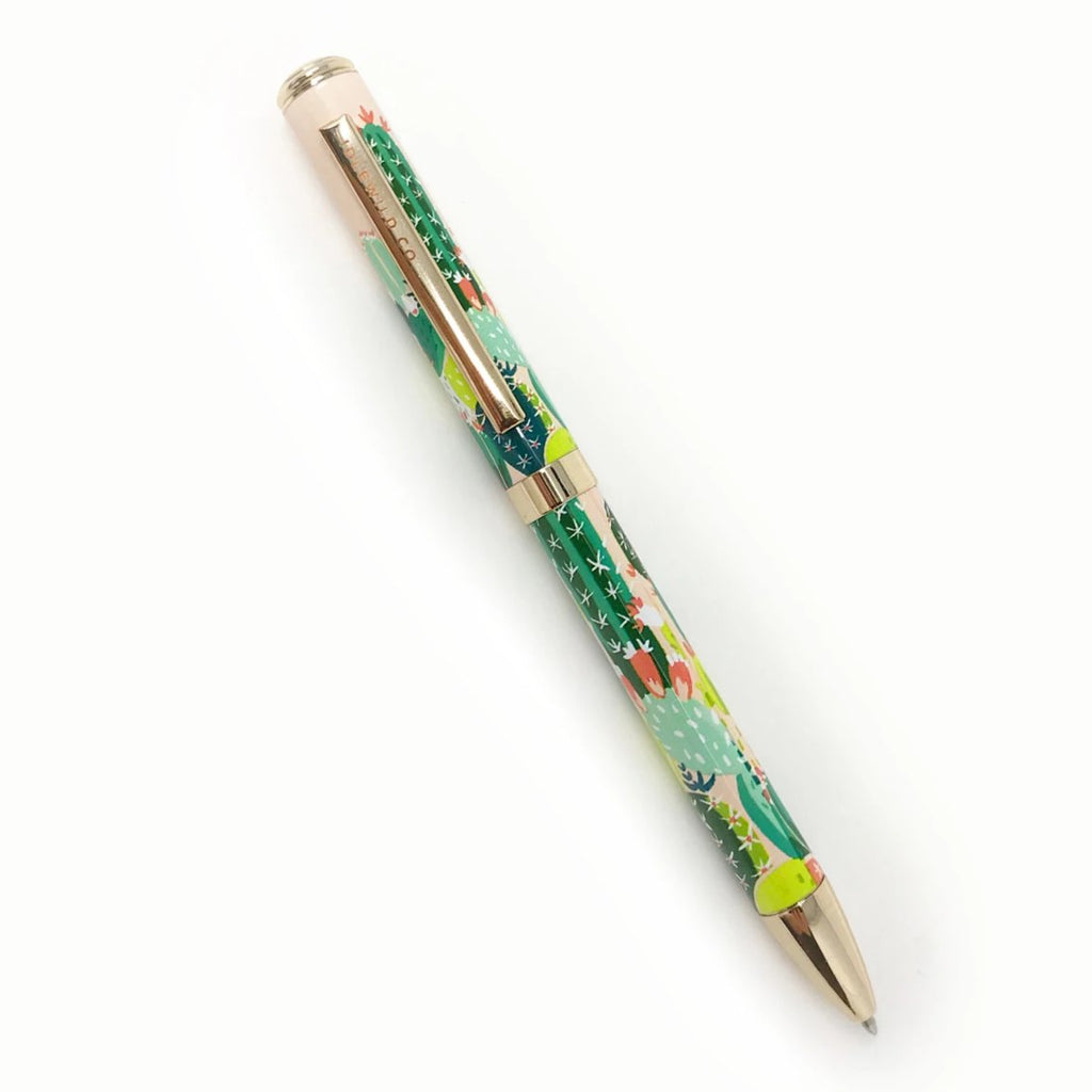 Green Prickly Pear Luxe Writing Ink Pen - Freshie & Zero | artisan handmade hammered jewelry | handmade in Nashville, TN
