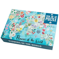 Flowers of the World Illustrated Puzzle - 500 pieces - Freshie & Zero Studio Shop