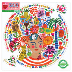 Positivity Round Puzzle 500 pieces - Freshie & Zero Studio Shop
