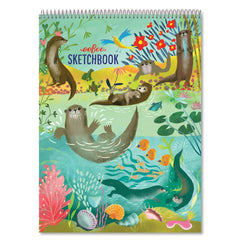 Otters at Play Sketchbook - Freshie & Zero Studio Shop