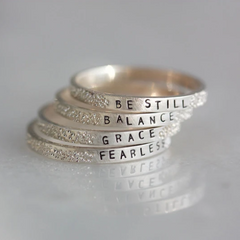 Grace: Diamond Dusted Message Ring - Freshie & Zero Studio Shop