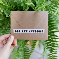 You Are Awesome Washi Tape - Freshie & Zero | artisan handmade hammered jewelry | handmade in Nashville, TN
