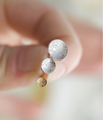 Circle Dot Stud Earrings (mini) by Christina Kober - Freshie & Zero | artisan handmade hammered jewelry | handmade in Nashville, TN