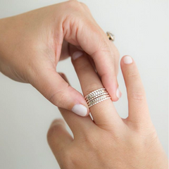 Fearless: Hand Stamped Message Stacking Ring - Freshie & Zero Studio Shop