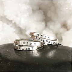 Breathe: Hand Stamped Message Stacking Ring - Freshie & Zero