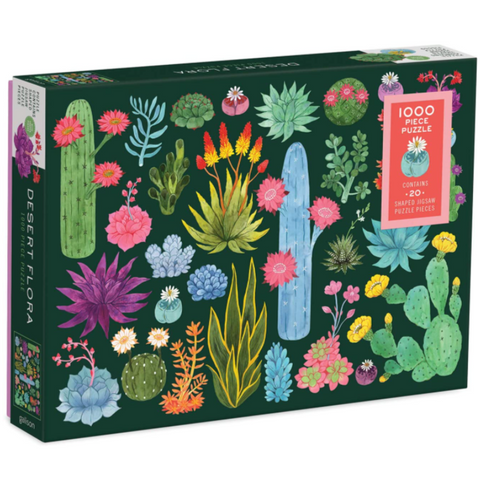 Desert Flora Succulents and Flowers Puzzle 1000 Pieces