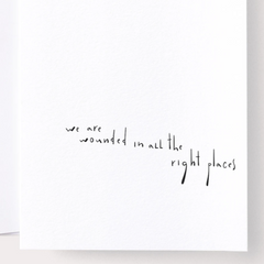 We Are Wounded in all the Right Places Card by Noat Paper - Freshie & Zero Studio Shop