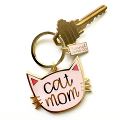 Cat Mom Keyring - Freshie & Zero Studio Shop